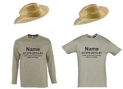 Dschungelcamp T-Shirt mit Ihrem Namen und Telefonnummer Kostüm Dschungelcamp - Telefon Kostüm