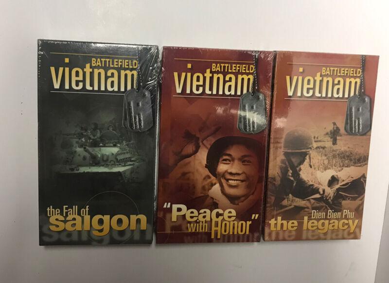 Battlefield Vietnam 3 VHS Video Tapes Time Life  Vietnam War - New Sealed