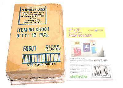 LOT OF 21 BOXES OF 12 NEW DEFLECT-O WALL MOUNT SIGN HOLDERS 10.2CMX15.2CM 68601 Deflect O Wall Mount Sign