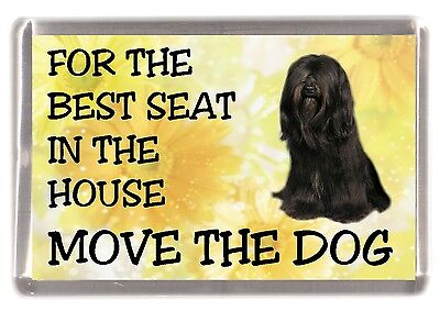 "Tibetan Terrier Dog Fridge Magnet ""For the Best Seat....."" by Starprint"
