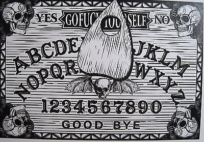 Ouija Board Sticker/Decal Spirit Board Death Head Skulls New Design