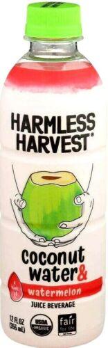 Harmless Harvest Coconut Water & Watermelon Juice Beverage 12 oz ( Pack of 6 )