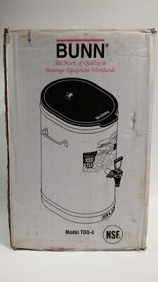 Bunn Model Td0-4 Reservoir Iced Tea Coffee Dispenser 4 Gal New