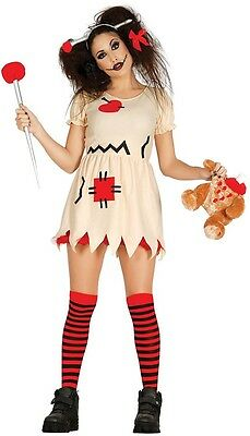 Ladies Sexy Voodoo Doll Halloween Fancy Dress Costume Outfit UK 12-14 16-18