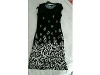 M&Co size 12-14 black evening dress (worn twice)