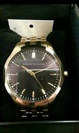 Armani Exchange Gold Watch