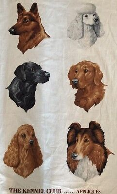 AMERICAN KENNEL CLUB DOG APPLIQUÉ Shepherd Poodle Collie Spaniel Golden Lab PC#2