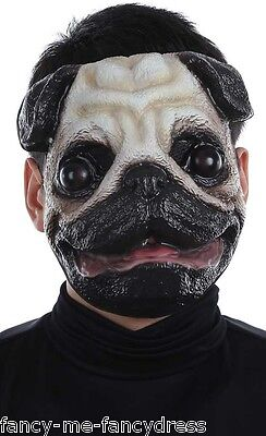 Pug Halloween Outfits (Mens Ladies Pug Dog Animal Halloween Festival Fancy Dress Costume Outfit)