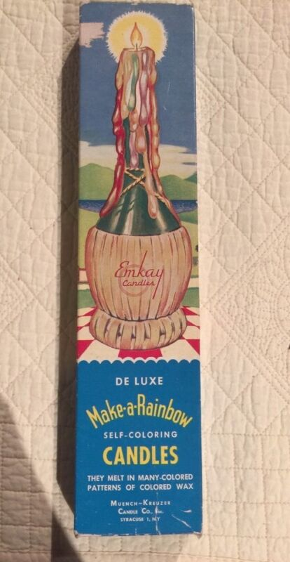 "Vintage Emkay Candles ""Deluxe Make-a-Rainbow"" 1950"