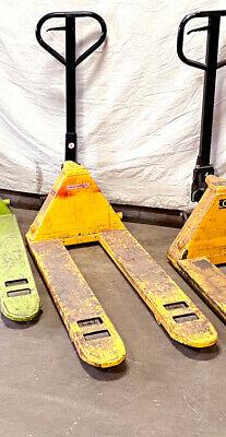Pallet Jack Uline H-1193 48 Forks 20.5 Wide 7.5 Lift 5500lb Capacity Used