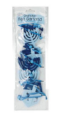 Chanukah Felt Garland with Menorahs and Dreidels - Jewish Hanukkah Chanukkah