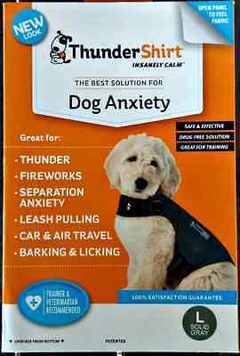 THUNDERSHIRT FOR DOG ANXIETY BEHAVIOR TRAINING GRAY SIZE LARGE 41-64 lbs NIB!$55