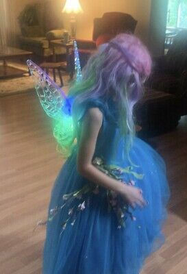 Disney Parks Tinker Bell Glow Wings Costume Halloween Lights Up! Fairy
