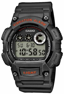 Casio Uhr W-735H-8AVEF Digitaluhr Vibrationsalarm schwarz Casio Uhr Alarm