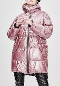 High Shine Pink Puffer Down Jacket