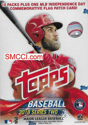 2018 Topps Baseball Series 2 Sealed Blaster Box Exclusive PATCH Possible AUTOS