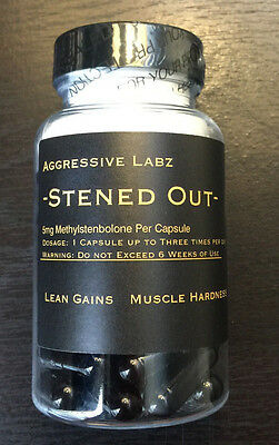Aggressive Labz  Stened Out  60 Capsules M Sten  Lean Mass  Fast Free Shipping