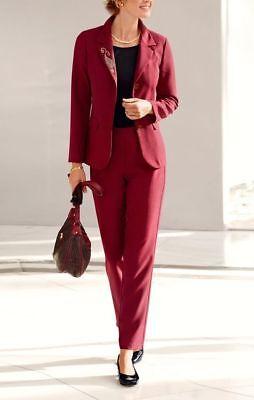 BLAZER & HOSE  2TLG  JACKE KOSTÜM ANZUG  WEINROT Gr. 24  25  26  48  54 - Roten Anzug Jacke Kostüm