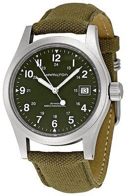 New Hamilton Khaki Field Green Dial Mens Watch H69419363