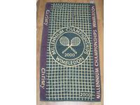 COLLECTORS OFFICIAL MILLENNUIM CHAMPIONSHIPS WIMBLEDON BATH TOWEL 26x50 CHRISTY.
