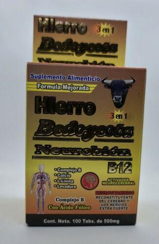 Bedoyecta Hierro 3 en 1 & Neurobion Vitaminas B12 Complex B Calcium Tabletas
