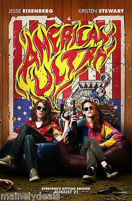American Ultra Sitting Double Sided Movie Poster 27X40 Stewart Eisenberg