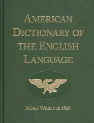 Noah Webster 1828 American Dictionary Of English Language Websters Hardcover New