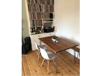 Bespoke dining tables, desks, coffee table with industrial hairpin legs