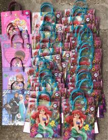 65x Disney Princess Frozen Mcstuffins Sofia Ariel Plastic Tote Gift Bags £130. BIG SALE £30