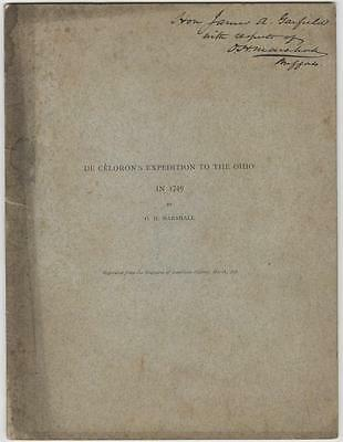 Volume from the Library of President James A. Garfield - Gifted to Him by Author