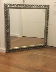 Lovely square silver / light gold mirror - 90cm x 90cm - RRP £300