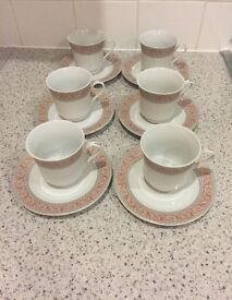 6 cups and saucer set