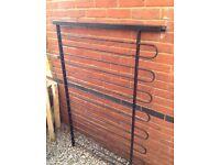 Bow top metal fencing