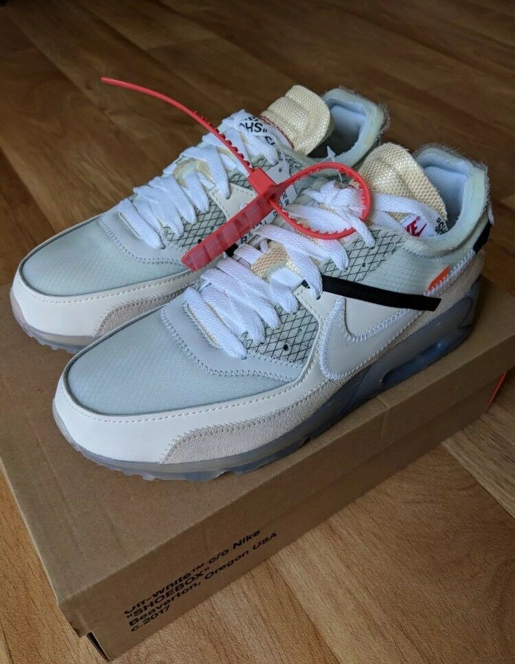 big sale 68ce0 7fd20 NIKE X OFF-WHITE COLAB - THE TEN  NIKE AIR MAX 90 X VIRGIL ABLOH SIZE 8 UK  US 9 EU 42.5