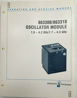 Hp 86330b86331b Oscillator Module Operating Service Manual Pn 86330-90026
