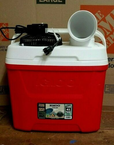 Onos 28qt Igloo Portable Air Conditioner Home Camping Ice Chest Swamp Cooler Fan