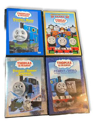 Thomas & Friends 4x Snowy Surprise Cranky Bugs Steamies Diesels DVD Lot of 4