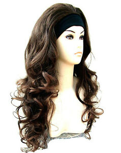 3-4-Wig-Fall-Dark-Brown-Auburn-Half-Wig-Hair-Piece-from-Vogue-Wigs-UK
