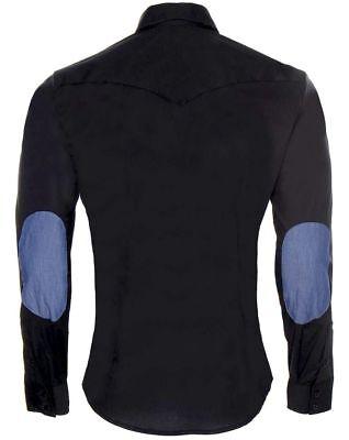 AJ Armani Jeans Style 06D02 Herren Hemd Stretch Shirt Regular Fit Schwarz Gr. M
