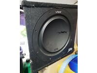 "Vibe Slick 12"" Sub woofer Non ported sub in enclosure"