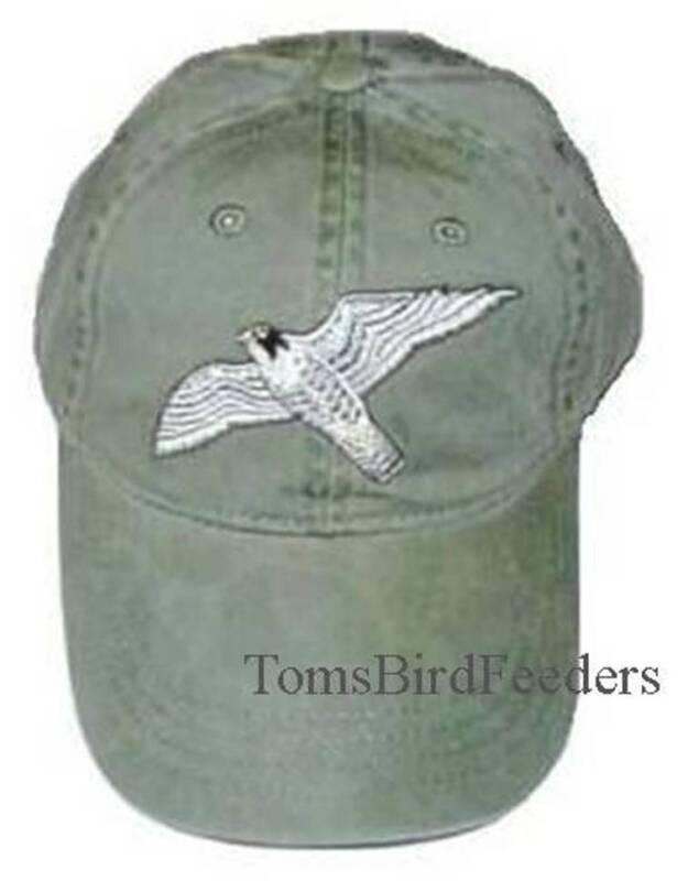 Peregrine Falcon Embroidered Cotton Cap NEW
