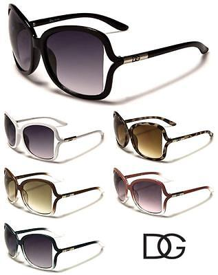DG Eyewear Womens Oversized Vented Stylish Fashion Driving Sunglasses - (Stylish Sunglasses)
