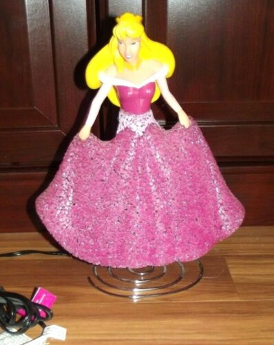 "Disney Princess Aurora Sleeping Beauty Sparkle Nightlight Lamp 11.5"" Tall"