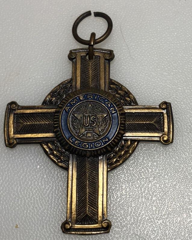 Vintage American Legion US Cross Whitehead & Hoag Fob Pendant Medallion