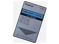 Roland M-512E Memory Card for Roland synths & modules JV-80, JV-880, JV-1080, JV-2080 NEW battery