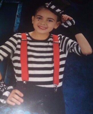 Child`s Mime Fancy Dress Outfit