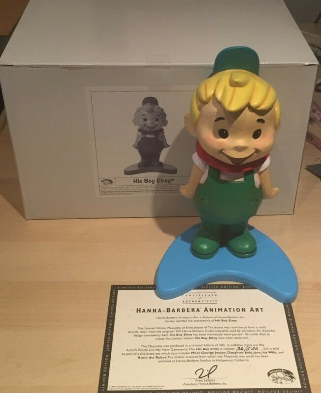 JETSONS MAQUETTE STATUE  ELROY  LTD TO 500 SETS  SOLD OUT IN W.B.  STORES