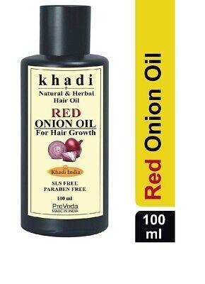 PreVeda Khadi Red Onion hair growth Oil  best herbal,natural & ayurvedic 100