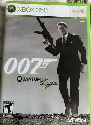 JAMES BOND 007 QUANTUM OF SOLACE XBOX 360 GREAT CONDITION TESTED MANUAL INCLUDED