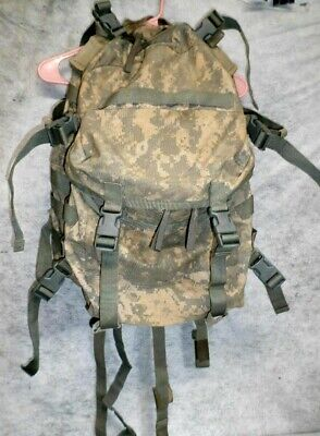 US MILITARY BAE MOLLE II ACU CAMO ASSAULT PACK WITH FADE AS SHOWN USED